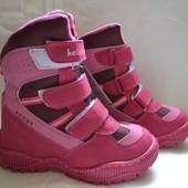 Новый сбор! Термо-ботинки для девочек, 27-32р. Цена позапрошлого года!!! Распродажа склада!