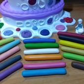 Мега-Модулін. Хіт 2018! 18 кольорів (натуральна маса для ліпки)! Творча сіль,форми, дошки,стеки.