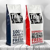 Премиальный кофе в зернах свежей обжарки Tobi coffee