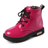 Красивые лаковые ботиночки на меху Р:21-36.