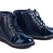 ☆остатки сладки по старой цене☆отличное качество☆Деми ботиночки!темно-синие  31-36 рры