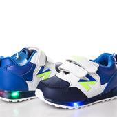 Кроссовки с LED-подсветкой,мальчик/девочка Р.21-31. 3 модели