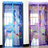 Сезон новый цена старая! Маскитные шторы на магнитах для дверей и окон. С рисунком! 4 цвета