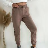 Якість гарантую жіночі спортивні штани 3-х нитка на флісі 42-52р