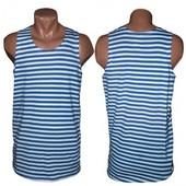тельняшка мужская чоловіча 48-58 размер п-во Украина в полоску майка футболка джемпер