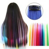Пряди цветные 50см термоволокно, волосы на заколках