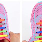 Ленивые силиконовые  шнурки для обуви 16 штук.Для детей и взрослых )