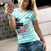 Остатки. Женские футболки, яркие, летние расцветки. Турция. Только реальные фото.!!!