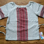 Трикотажная вышиванка Boma р. 116-140, 104, 110 для девочки и мальчика. Выкуп от 1 штуки.