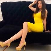 Платье майка 46-48 миди  цвет только  жёлтый 135 грн