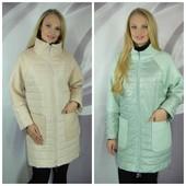 Демисезонные куртки и пальто. Размеры 48 +