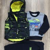 Утепленные спортивны костюм для мальчика S&D, рр 1-5 лет и 116-146, Венгрия. В наличии р.116,134,146