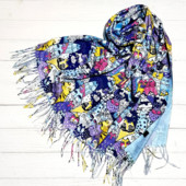 Красивые платки и шарфы палантины Кошки в расцветках