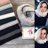 Выкупаю 18/12. Тёплый шарф - хомут восьмерка (снуд). Шерсть + акрил. Мои фото