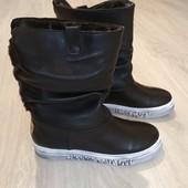 Полностью кожаные зимние ботинки женские, 2 модели, р.37-41