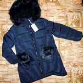 В наличии! Дорогие зимние куртки на девочек12,14,16 р. с Загран сайта.