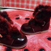 СП Детские зимние ботиночки, ортопед,опушка натуральный кролик, выкуп напрямую со складов