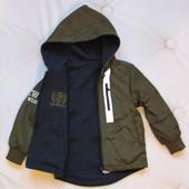 Куртка,ветровка, Венгрия, крутая двухсторонняя, 4-12 лет,3 цвета