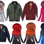 Весенние куртки омбре,бомберки, двухсторонние по супер ценам.