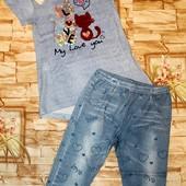 Модный и красивый комплект на девочку с паетками 6-14 А