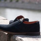 Мужские туфли из натурального замша распродажа