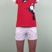 Женский домашний костюм или пижама от 40 до 58 размера. Хлопок