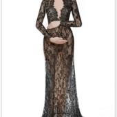 Длинное платье-пеньюар из кружева для фотосессии, на романтический вечер код 303 все выкуплены
