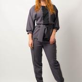 Костюм женский  двойка блуза брюки для женщин от бренда Adele Leroy.
