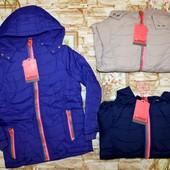 Красивая куртка Grace на флисовой подкладке с синтапоном 134-164 р