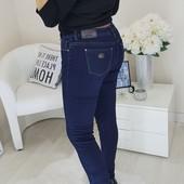 Зимние джинсы с высокой посадкой в большом размере! По бедрам от 100 до 150 см!выкуп от 1 ед.