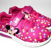 Новые Кроссовки для девочек и мальчиков Disney с Led подсветкой при ходьбе.Размеры 30-35