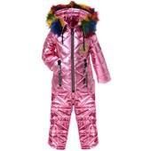 Костюм зимний, куртка и комбинезон блестящий от 1 года до 6 лет.