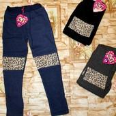 Модные лосины для девочек на меху 98-128 р