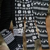 детские теплющие до -30 с леггинсы лосины гамаши разные зимние узоры