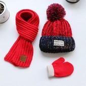 Детские шапки, шарфы, хомуты