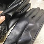 Кожаные перчатки для девушек и женщин № 26