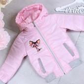 Куртка демисезонная на девочку 98-128