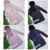 Стильные и модные демисезонные курточки пальто для девочек 116-164 размер.