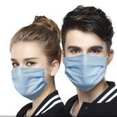 Медицинские хирургические маски со стерильным слоем.