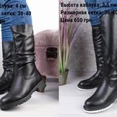 Зимние женские сапоги и ботинки