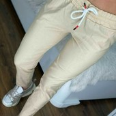 Женские укороченные леггинсы-брюки лен