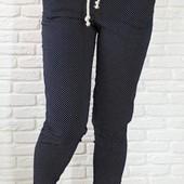 Коттоновые брюки укороченные 44-54