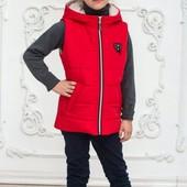 Демисезонные жилетки и куртки из плащевки для девочек 2020