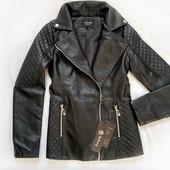 Куртка косуха женская стильная демисезонная из эко кожи на подкладе