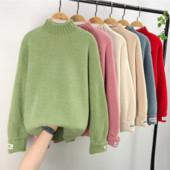 Теплый однотонный свитер на каждый день размер UNI (44-48)