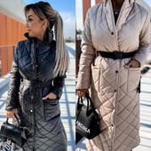 Стёганое пальто зима