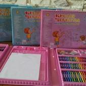 Набор для детского творчества 208 предметов! Розовые