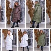 Длинный куртки. пальто Осень и зима Много моделей!