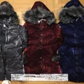 Бомбическая Зимняя куртка на меху для девочек grace 8-16 лет.
