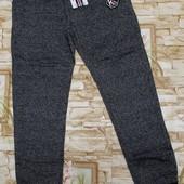 Модные спорт. брюки с начесом на мальчиков 134-164 р.